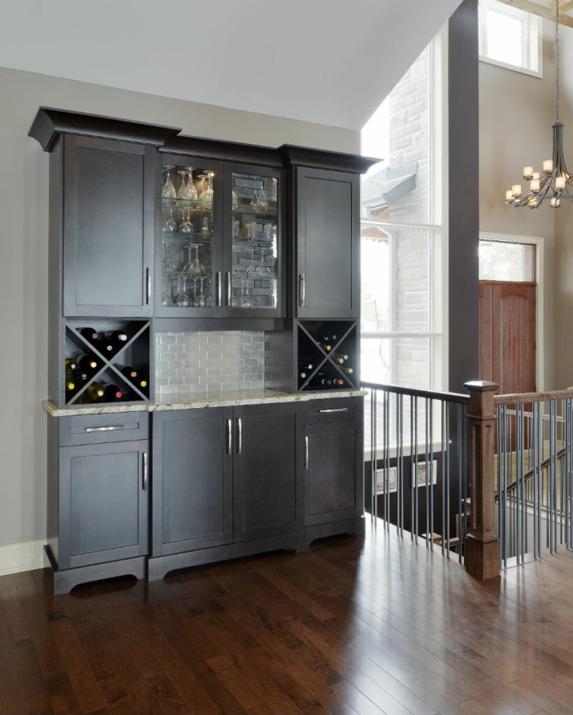 Custom home wet bar by Deslaurier
