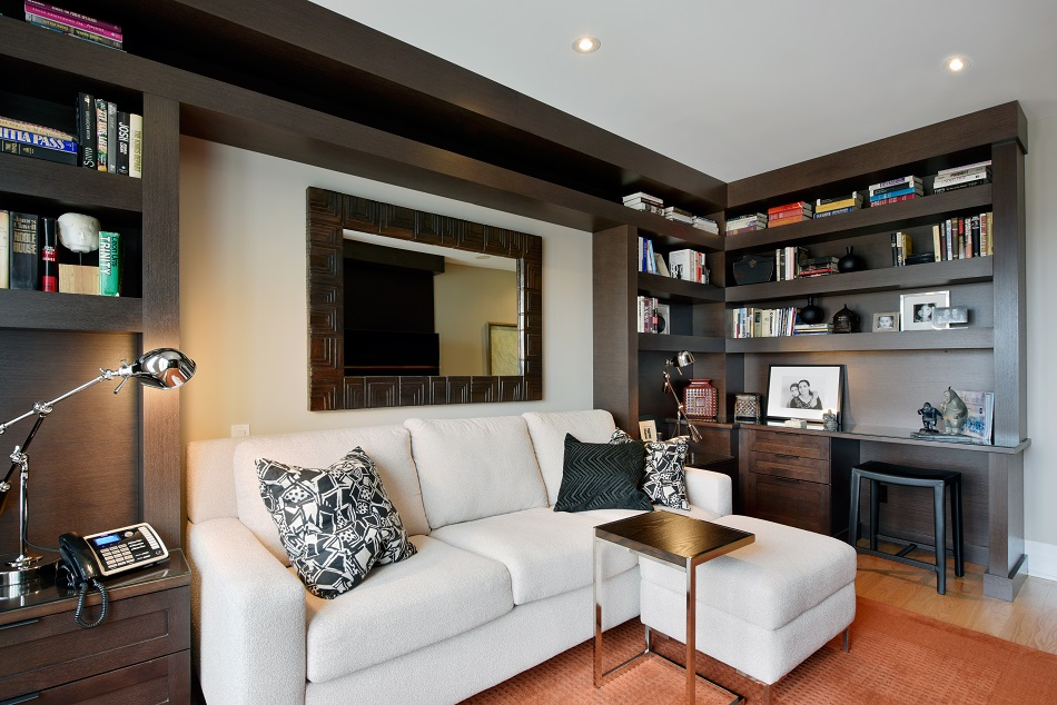 Custom living room by Deslaurier