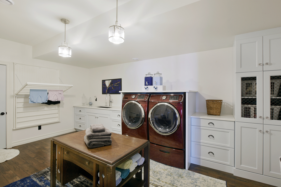 Custom laundry room storage by Deslaurier