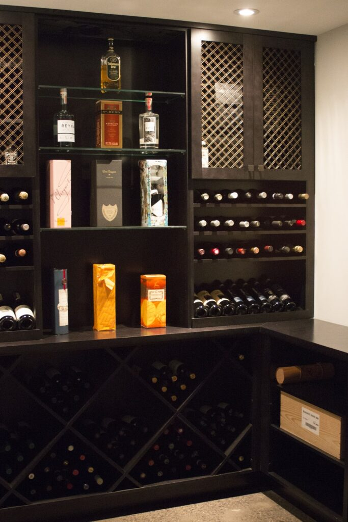 Custom storage for liquor or wine