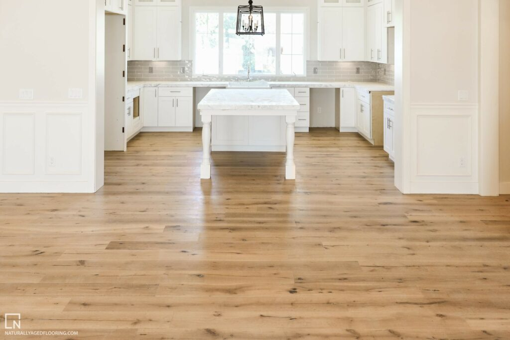 Naturally Aged Engineered Hardwood Medallion Collection - Boney Mountain in Empty Kitchen