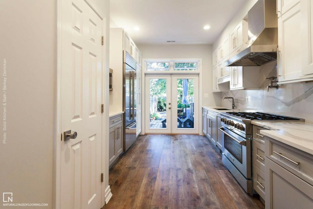 Naturally Aged Engineered Hardwood Medallion Collection - Dakota in Kitchen