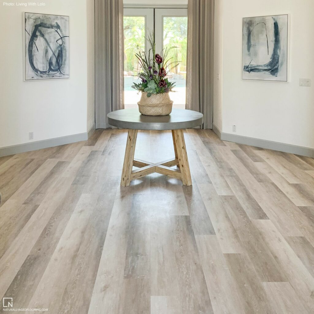 Luxury Vinyl Plank in entrance way